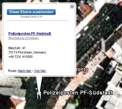 Polizeiposten PF-Südstadt loc: 48.886170,8.695685