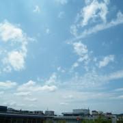 Heiterer Sommertag auf der Schlösslegallerie in Pforzheim